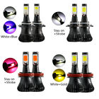 H11 9005 9006 HB3 HB4 LED Fog Light Bulb CREE Dual-Color Switchback Strobe Lamps