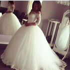 Vintage White/Ivory Wedding Dress Ball Gowns off the shoulder Bridal Gowns