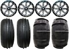 "MSA Lok 14"" ATV Wheels 28"" Sand Stripper Tires Suzuki KingQuad"