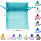"""50 Strong Organza Pouch 3x3.5"""" 7x9cm Wedding Favor Jewelry Gift Candy Bag Colors"""