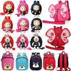 2017 Cartoon Baby Toddler Backpack Kids Safety Harness Strap Bag with Reins New