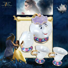 Beauty And The Beast Teapots Mugs Mrs. Potts Chip Tea/Sugar Pot Cup Set with Box