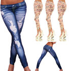 Sexy Women High Waist Pants Stretch Skinny Pencil Tight Jeans Slim Trousers
