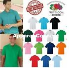 Kyпить Fruit of the Loom Polo Shirt Plain Short Sleeve Men's Polo T Shirt S - XXL Lot на еВаy.соm