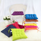 2/4/6/8/10X Seat Chair Pad Cushion With Tie On Chunky Office Room Garden
