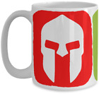 Spartan Helmet Coffee Mug (Red, Blue, Green) - Gift for Obstacle Course Runner