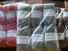 MODA DEA CARTWHEEL YARN 6 skein lots Misty Bronzeberry or Raspberries 100% wool