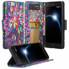 ZTE Blade Z MAX Wallet Credit Card ID Kick Stand Flip Phone Case Cover MetroPCS