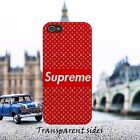 Supreme Red Pattern Phone Case Cover For iPhone Samsung models