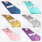 "12"" X 108"" Taffeta Pintuck Table Runner Cloth Wedding Party Banquet Decor Colors"