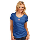 New York Giants Antigua Embroidered Royal Blue Heather Pep Short Sleeve T-Shirt