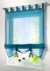 New lifting Rome Window Kitchen Bathroom Curtain screens aqua green