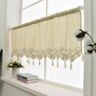 Linen cotton lace stitching Home Kitchen Sheer Cafe Curtain 16022805