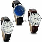 Classic Men's Date Dial Leather Band Quartz Analog Wrist Watch Father's Day Gift