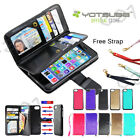 iphone 5 Case Flip Leather Business Wallet Card Slot Purse Case Cover For Apple