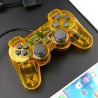 NEW Wired Twin Shock Game Controller Joypad Pad For PS2 Clear Color