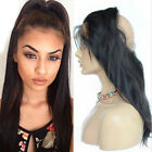 360Lace Frontal Closure 100%Brazilian Remy Human Hair Silky Straight Pre Plucked
