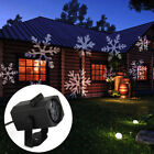 LED Moving Sparkling Snowflake Light Projector Outdoor Landscape Waterproof IP65