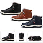 Men's High Top Leather Ankle Snow Boot Sneaker Lace Up Rubber Sole to Keep Warm