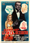 Dr No James Bond Vintage Italian Movie Poster $223.15 CAD