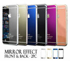 Iphone 5, 5s And Se Front &back Colored Mirror Tempered Glass Screen Protector
