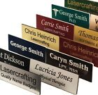 Personalised Engraved Name Badges Various Shape and Colour Magnet or Plastic Pin