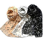 Fashion Musical Note Chiffon Neck Scarf Shawl Muffler Scarves Long Scarf 3 Color