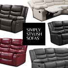 BELFAST 5 Seat Fully-Reclining Leather Recliner Corner Sofa + 1 Year Guarantee