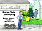 PERSONALIZED CUSTOM CARTOON PRINT - LANDSCAPER  - GREAT GIFT IDEA! FREE S/H