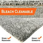 Bleach Cleanable Soft Saxony SILVER Grey Carpet Hessian Back FREE Underlay £10sm