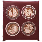 Japanese floor pillow cushion cover zabuton cotton lucky print 55 x 59cm