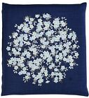 Japanese floor pillow cushion cover zabuton cotton meisen flower 55 x 59cm
