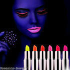 New Face Body Bright Fluorescent Lipstick Paints UV Glow NEON Night Party Club