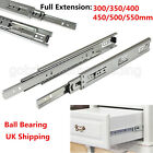 Metal Ball Bearing Drawer Runners Full Extension Double Drawer Slides Heavy Duty