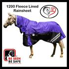 LOVE MY HORSE 5'9 6'0 6'3 1200D Reflective Fleece Turnout Rainsheet Combo Purple