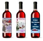 2  x Personalised Wine Bottle Labels Name + Message Secret Santa Christmas Gift