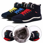 Men's Warm Short Snow Boot Wearable Fur Lined Casual Ski High Top Shoes Sneaker