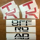 2017-2018 Toyota 4Runner TRD OFF ROAD Badge Inlay Decal Set