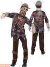 Childrens Deluxe Zombie Viking Costume Boys Kids Halloween Fancy Dress Outfit