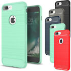 For iPhone 8 / 8 Plus Rubber Shockproof Thin Brushed Hybrid Silicone Case Cover