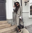 ZARA CHECKED WOOL COAT XS-L REF.8016/650 AW17 BLOGGERS FAVORITE