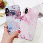 Fashion Granite Marble Patterns Hard Glossy Case Cover for iPhone 8 X 6S 7 Plus