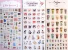 Card Lover & Deco Epoxy Sticker Sheet (You Choose: Girl's, Cats OR Coffee)