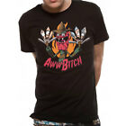 RICK & MORTY 'AWWWW BITCH' TEE - spiral,schwifty,official,licensed,merch,tv