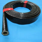 6mm~50mm High Temperature Heat Vulcan Fire Sleeve Fire Braid Flame Shield Black