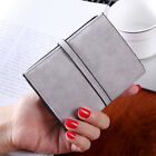 Fashion Simple Zipper Short Purse Faux Leather Coin Lady Wallet Card Holder
