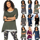UK New Womens Long Sleeve Crew Neck T-Shirt Ladies Casual Loose Tops Blouse 6-18