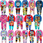 Kids Boys Girls Fleece All in One Character Childrens Pyjamas 1.5-10 Years