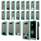 For LG G5 H850 VS987 Animal Clear TPU Teal Bumper Protective Case Cover + Pen