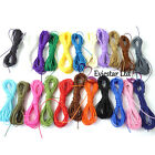110m Polyester Waxed Cord, 22 Colors x 5m each, Shamballa Macrame,1mm Thick, PWS